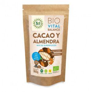 Mix de cacao y almendra con lino y chía molida 360 grs Sol Natural