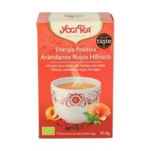 Yogi Tea energía positiva arándanos rojos 17 bolsitas de infusión