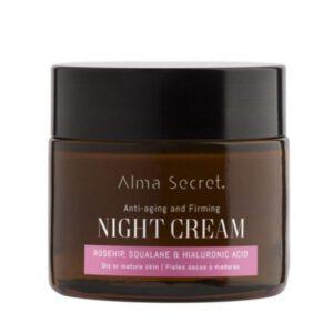 Crema multi-reparadora de noche con rosa mosqueta escualano e hialurónico Alma Secret