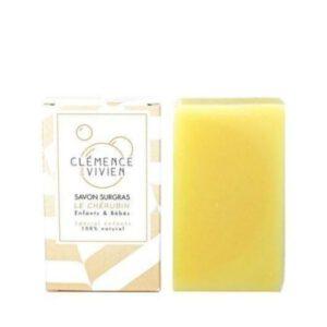 Jabón en pastilla natural niños bebés y pieles sensibles 100 grs Clemence et vivien