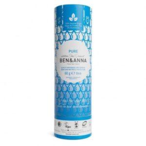 Desodorante en Stick pure 60 grs Ben & Anna
