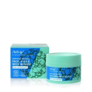 Crema esponjosa natural para rostro cuello y contorno de ojos con espirulina ecológico y vegano 60 ml Kili.g