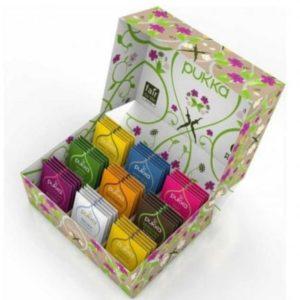 Caja con infusiones y tés Tea selection box 45 infusiones Pukka