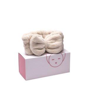Banda elástica con lazo para cabello beige Miin