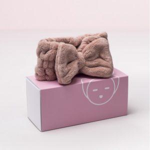 Banda elástica con lazo para cabello rosa nude Miin