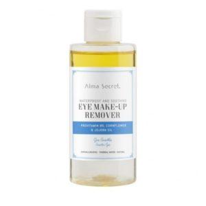 Desmaquillante de ojos suave con provitamina B5 flor de aciano y jojoba maquillaje resistente al agua 150 ml Alma Secret