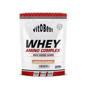 Proteína Whey amino complex 500 grs sabor chocolate blanco vitOBest