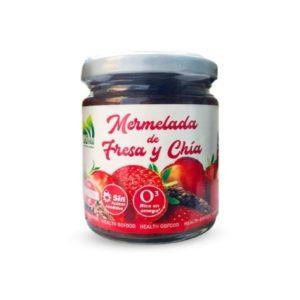 Mermelada de fresa y chía Sin azúcar añadido sin gluten 250 g Go Food