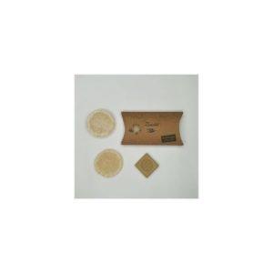 Pack 2 Discos exfoliantes de lufa y 1 jabón Alepo 20 gramos Zanabili