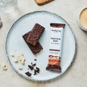 Barrita proteína doble chocolate 65 grs Foodspring