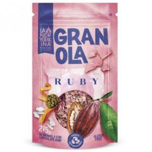 Granola Ruby con chocolate Ruby Sin glúten 275 grs La Newyorkina