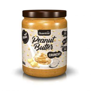 Crema de cacahuete trocitos crujientes 500 grs sin azúcares añadidos sin gluten apto veganos Quamtrax