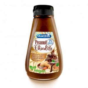 Crema chocolate y cacahuete 400 grs sin azúcares añadidos Quamtrax
