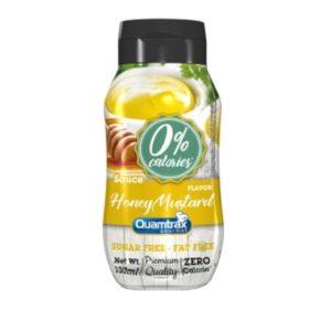 Salsa mostaza y miel 0% calorías 330 ml Quamtrax