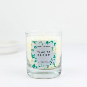 Vela Time to bloom Handmade scented Hora de florecer