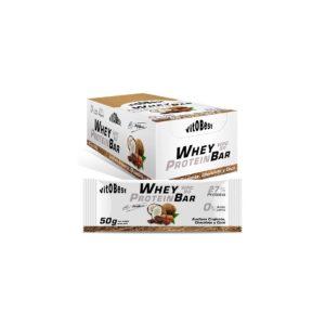 Barrita avellana chocolate y coco Whey Protein Bar 50 grs (by Torreblanca) vitOBest