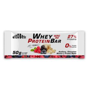Barrita choco blanco y frutos Whey Protein Bar 50 grs (by Torreblanca) vitOBest