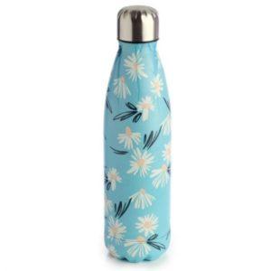 Botella Termo de Acero Inoxidable margaritas azul 500 ml Puckator