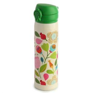 Botella Termo de Acero Inoxidable frio y calor flores 470 ml Puckator