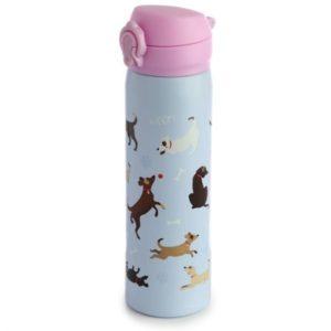 Botella Termo de Acero Inoxidable frio y calor perritos 470 ml Puckator