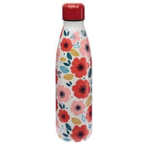 Botella Termo de Acero Inoxidable amapolas 500 ml Puckator