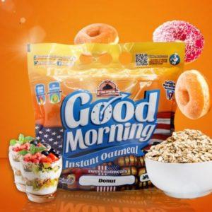 Harina de avena Good Morning instant oatmeal sabor donut 1,5 kg Max Protein