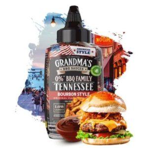 Salsa barbacoa Tennessee Estilo Bourbon Sureño Max Protein bajo valor energético 290 ml