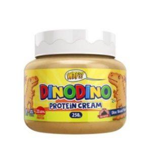 Crema para untar proteica sabor DinoDino deliciosa galleta de cereales tostados WTF 250 grs Max Protein